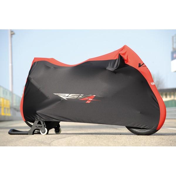 housse moto de protection rsv4 pour usage interieur la boutique moto. Black Bedroom Furniture Sets. Home Design Ideas